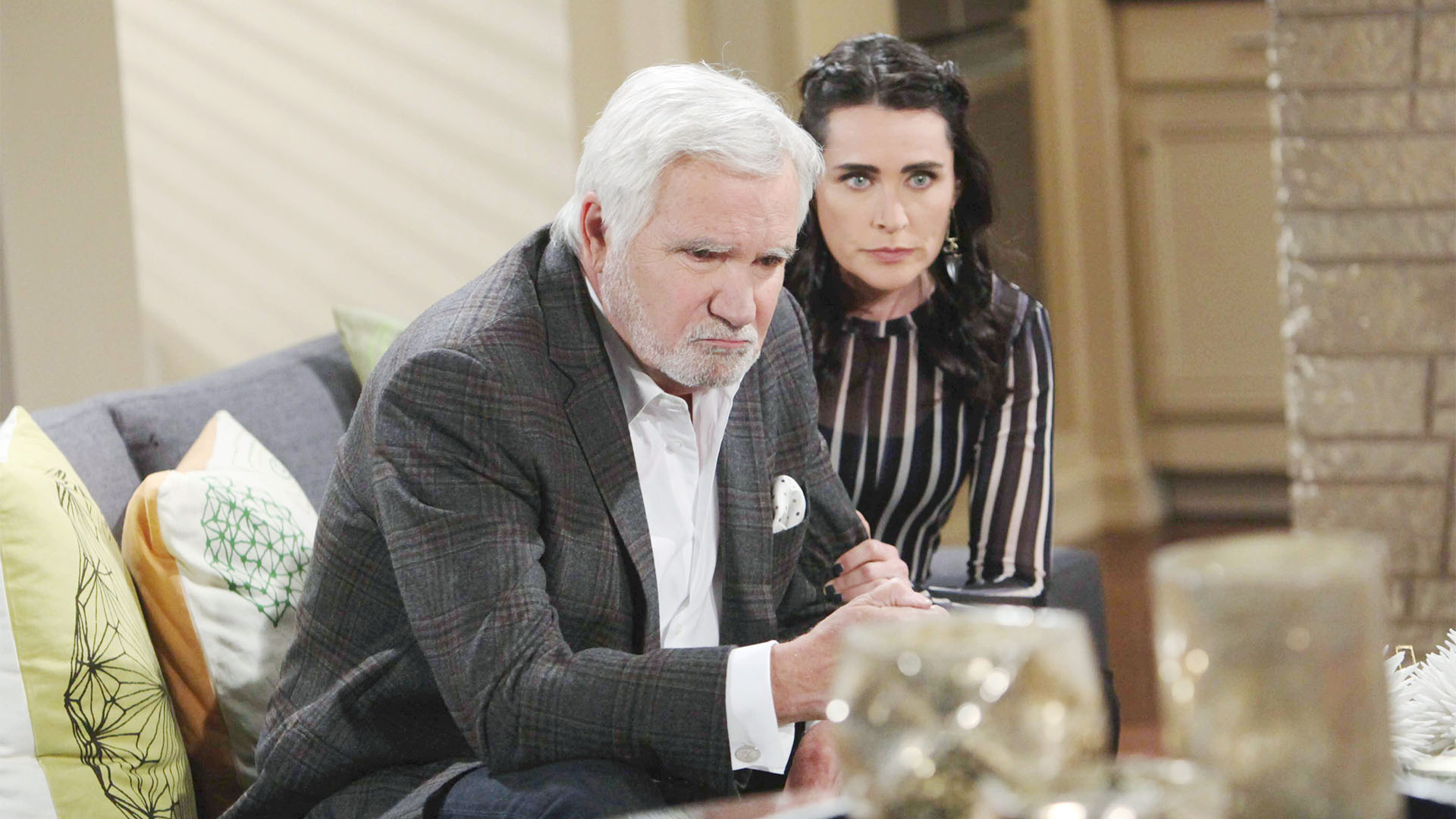 Quinn worries when Eric has a physical reaction to learning about Bill and Steffy's affair.