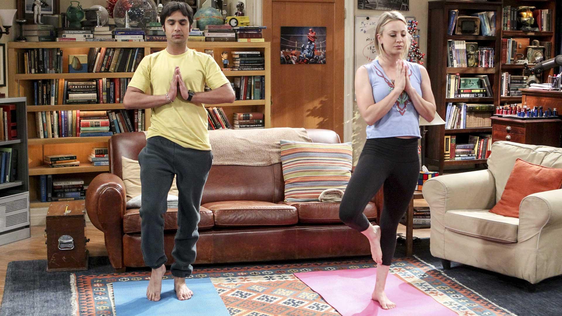 Namaste cool in Penny's Yoga gear.