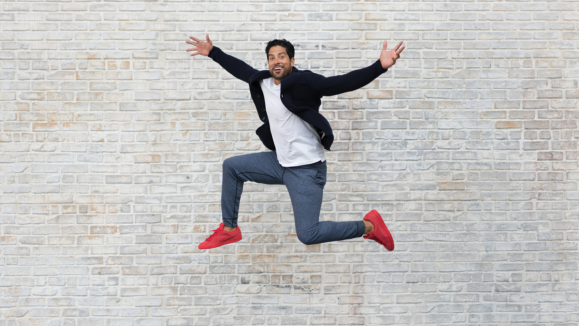 Adam Rodriguez is walking on air