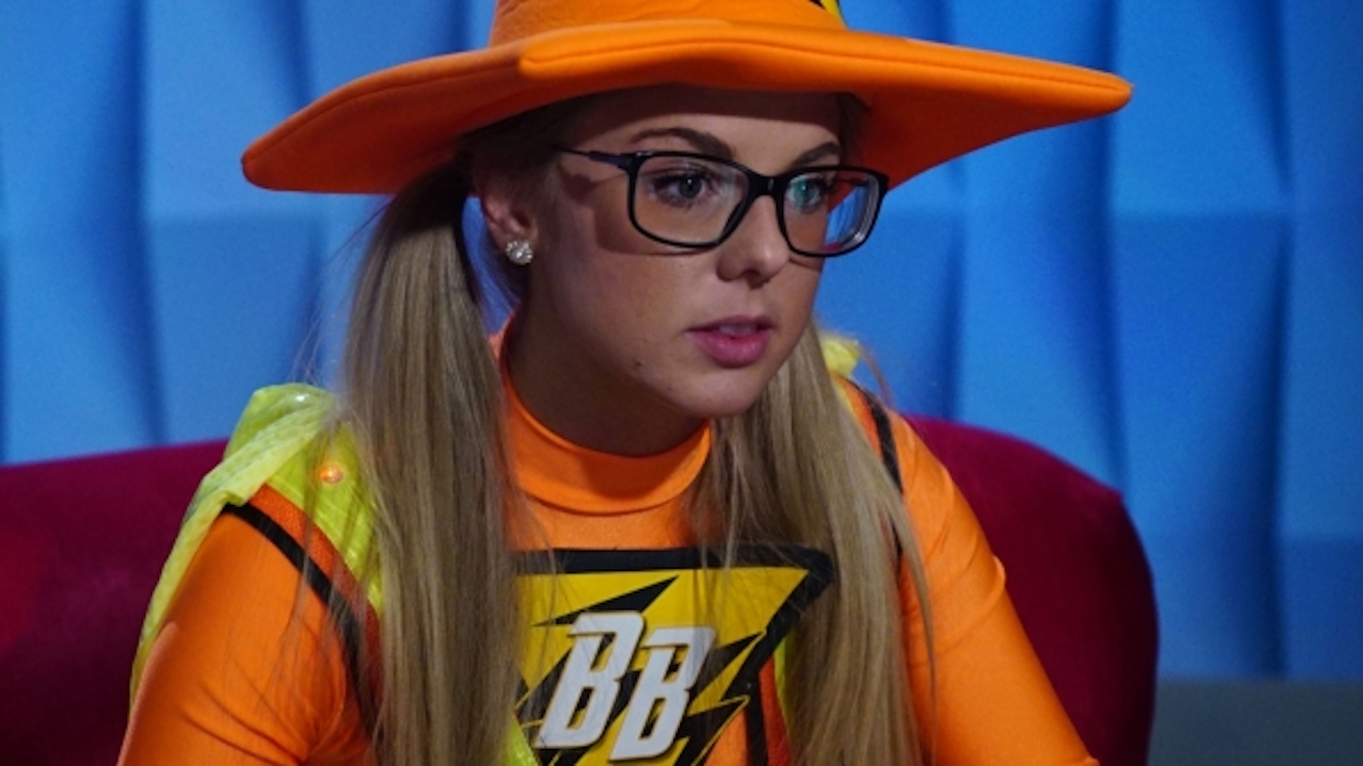 Nicole Franzel's Super Safety costume