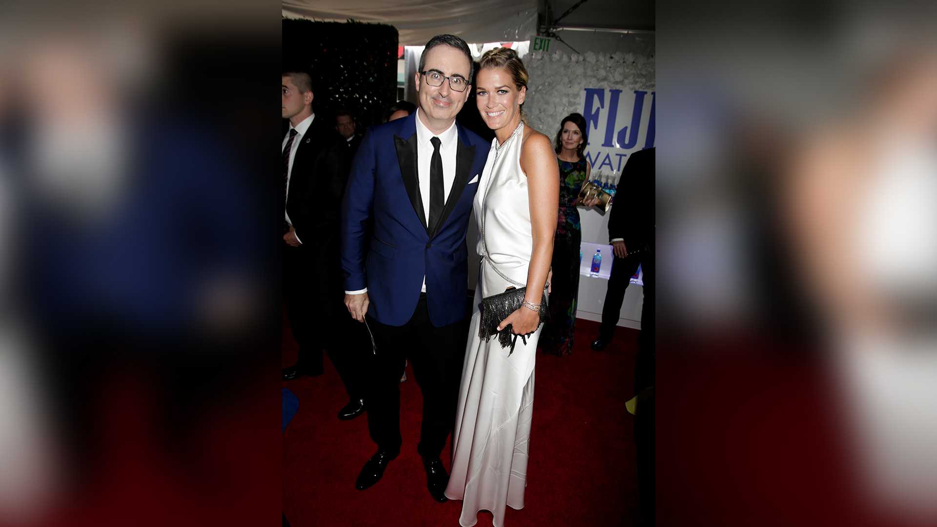 John Oliver from Last Week Tonight and Kate Norley