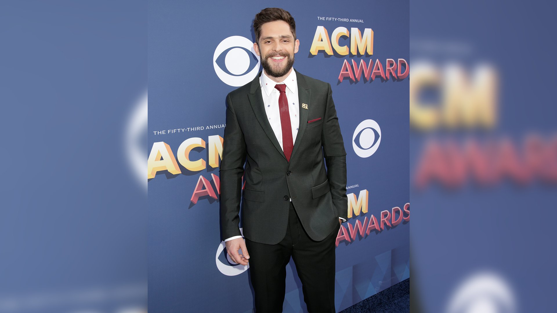 Thomas Rhett is all about the details, like the tiny symbols on his dress shirt.