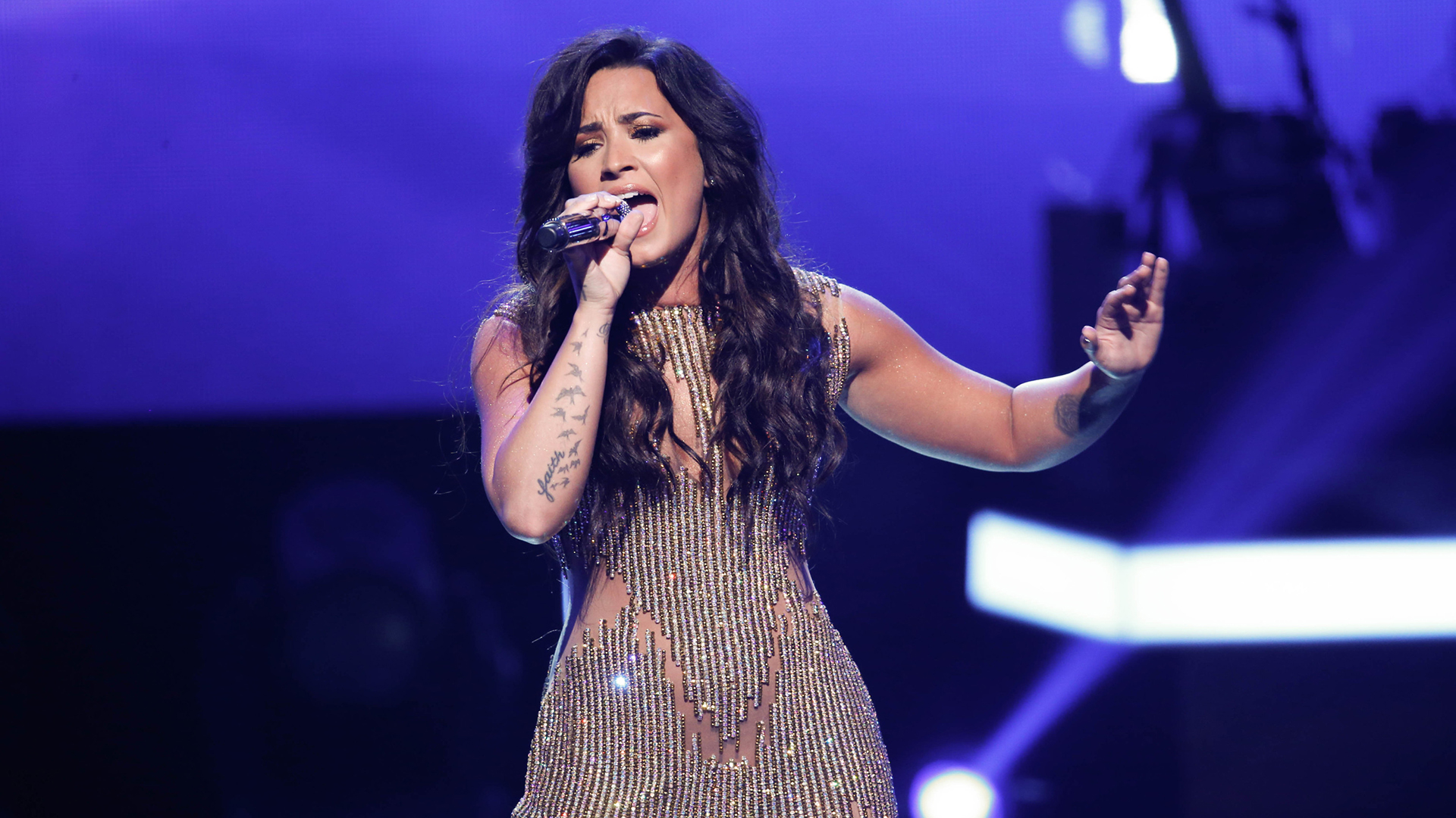 Demi Lovato performs