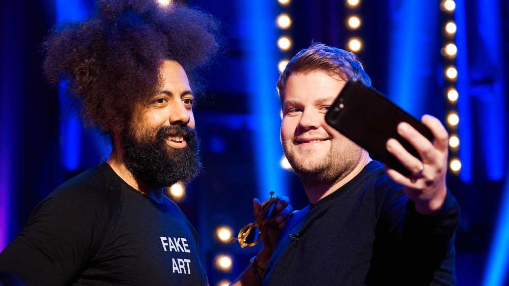 Reggie Watts has been wanting a selfie with James Corden for years.