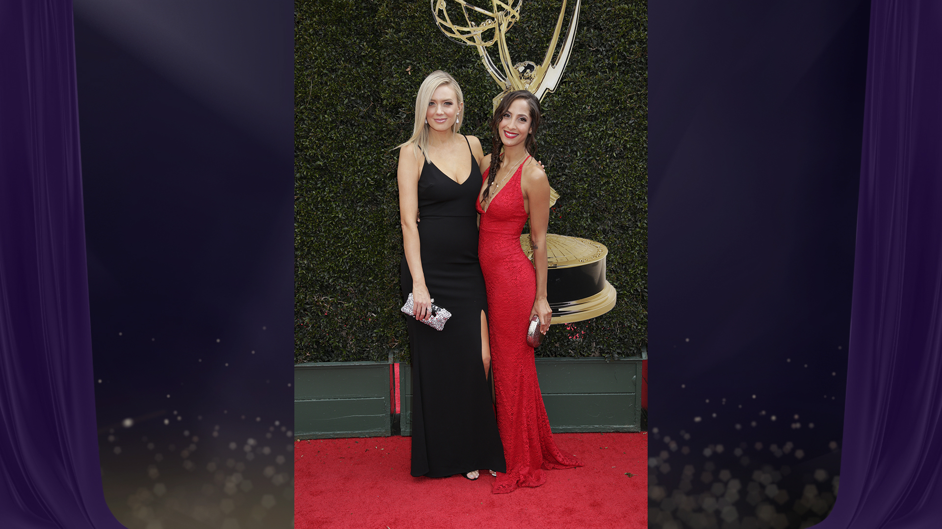 Melissa Ordway and Christel Khalil, costars on The Young and the Restless, look like they're ready to get the Daytime Emmy party started!