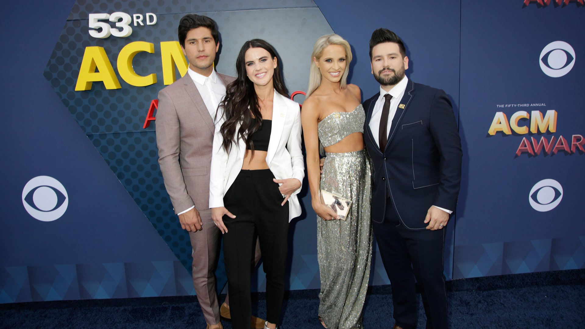 Dan + Shay pose with their beautiful dates before performing