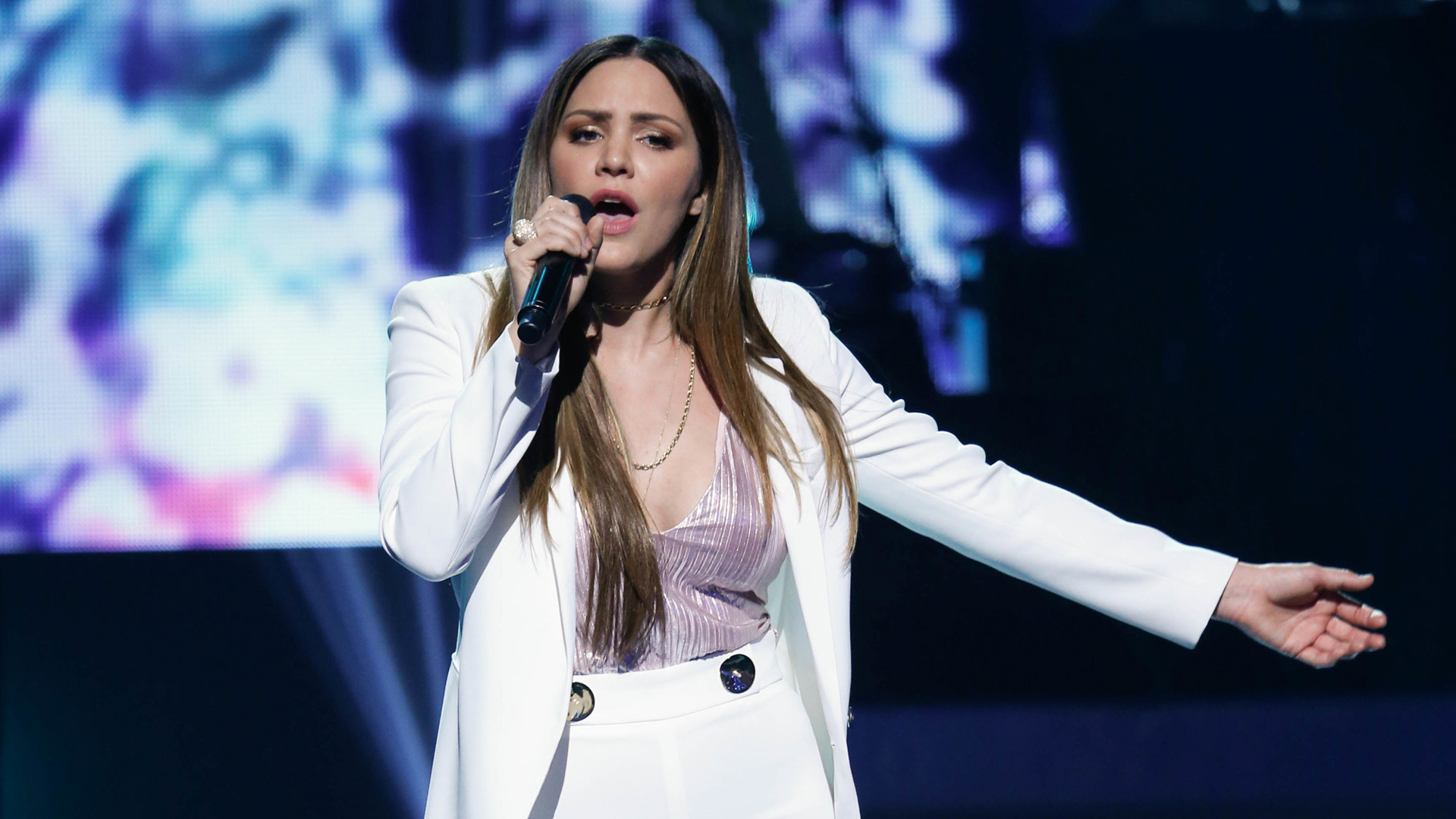 Katharine McPhee performs