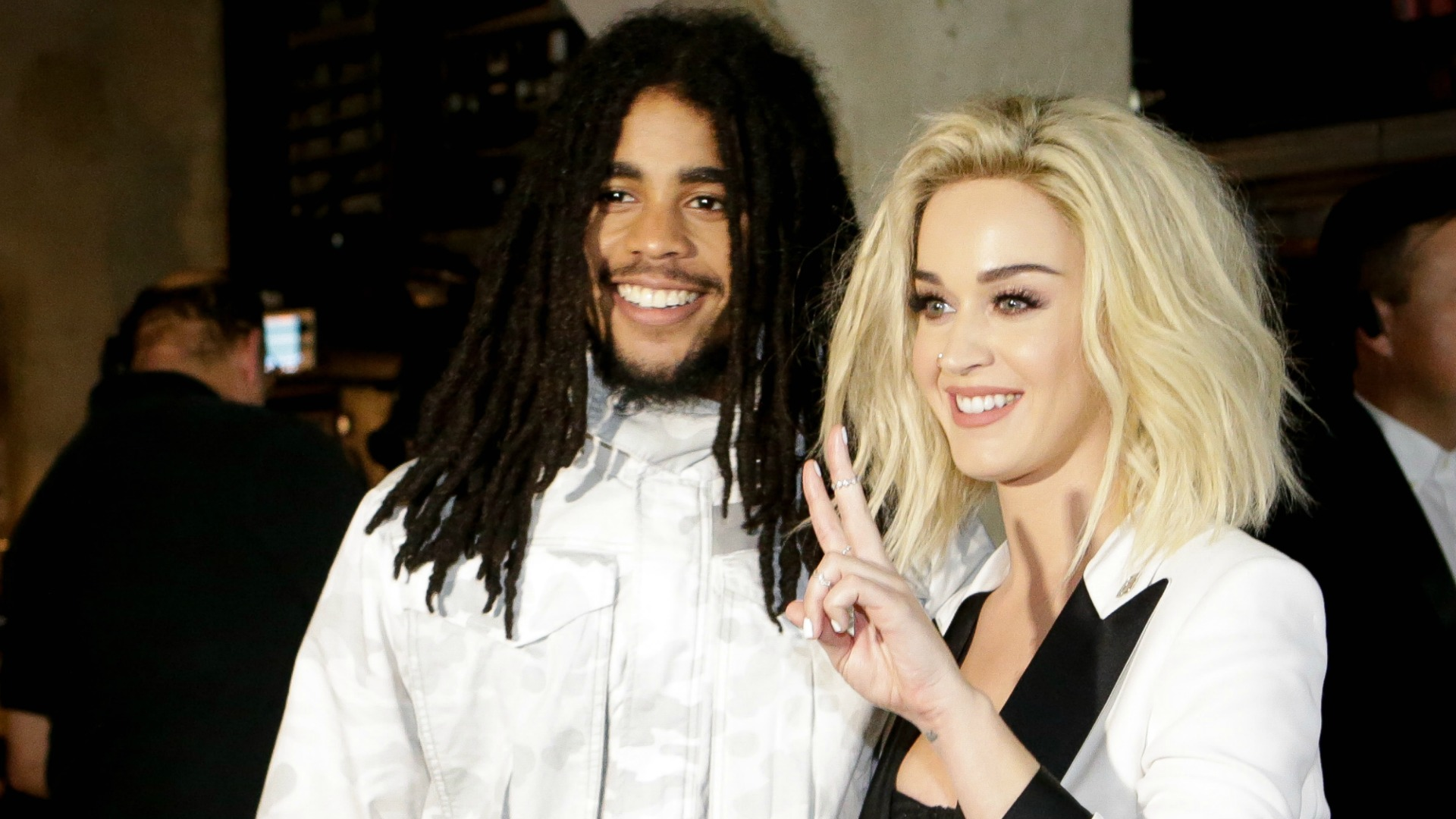 Skip Marley and Katy Perry are all about peace and performing together.