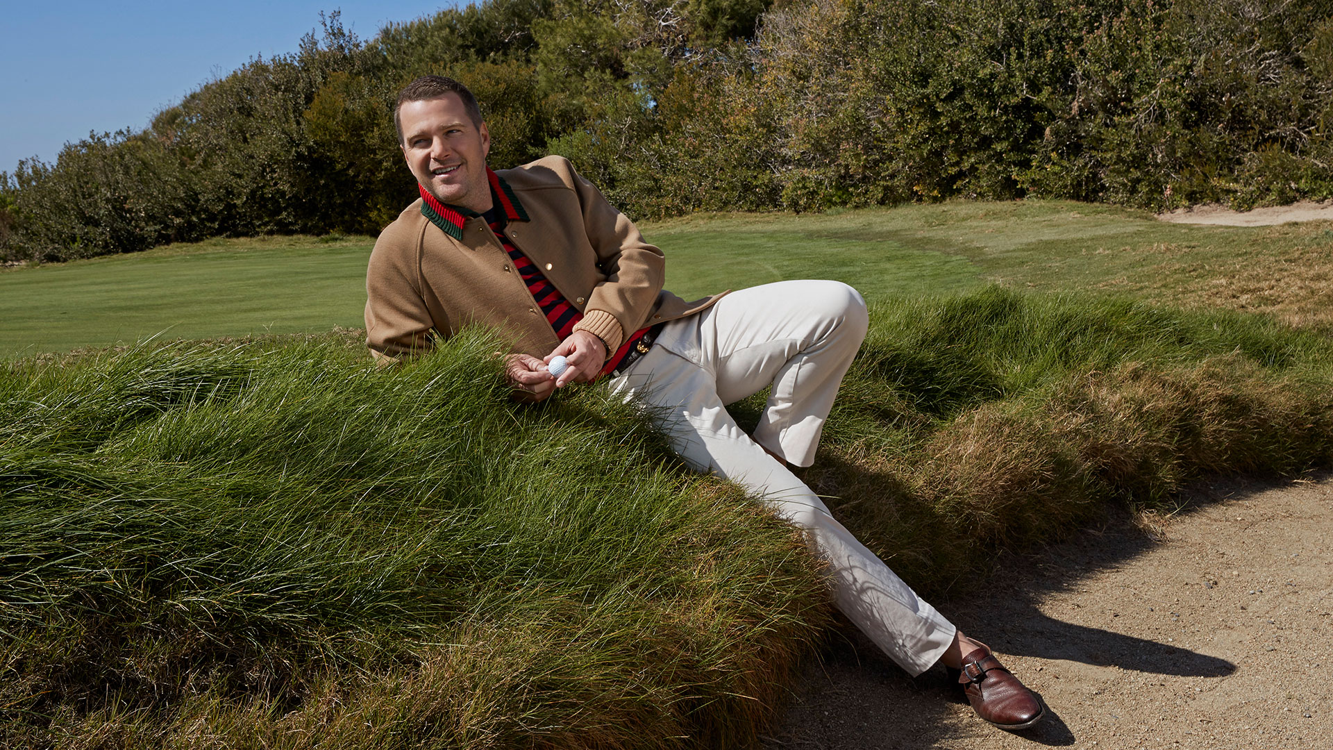 Chris O'Donnell hits the links