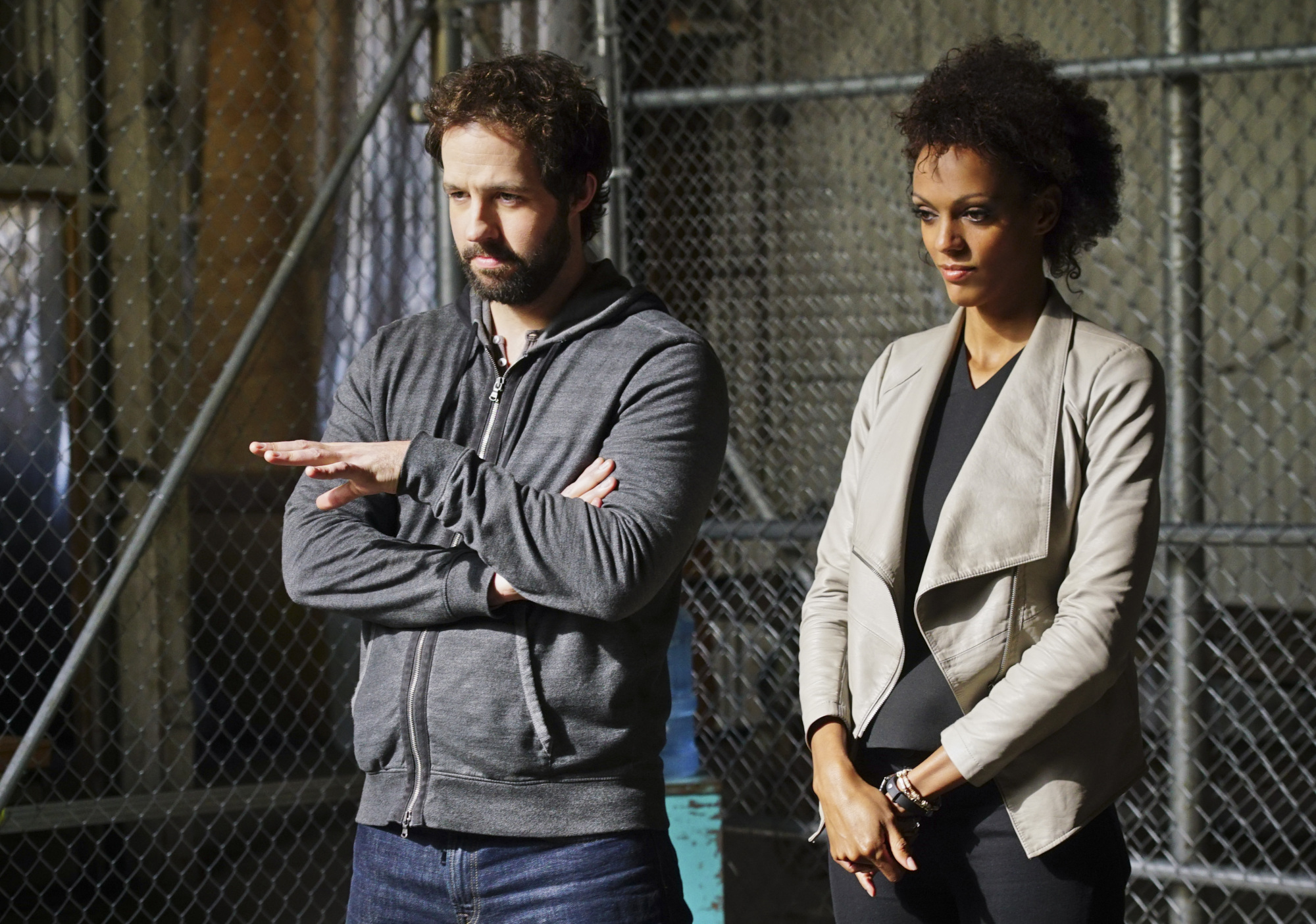 Peter Cambor as Operational Psychologist Nate Getz and Judith Shekoni as Alisa Chambers