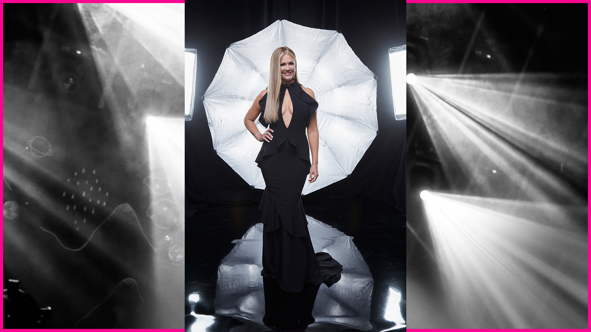 Entertainment Tonight host Nancy O'Dell perfects the hand-on-the-hip pose with style and grace.