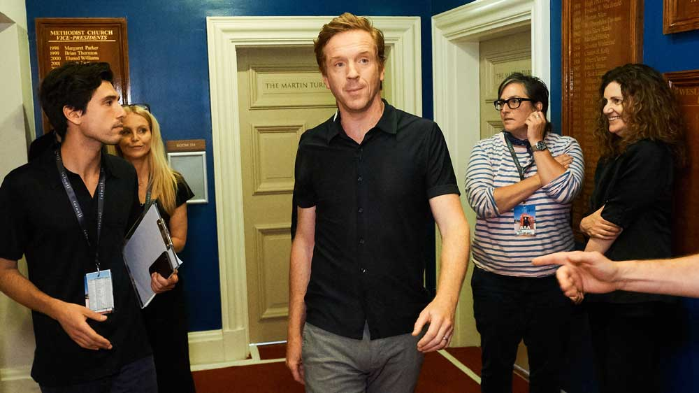 Damian Lewis walks down hallways better than anyone else.