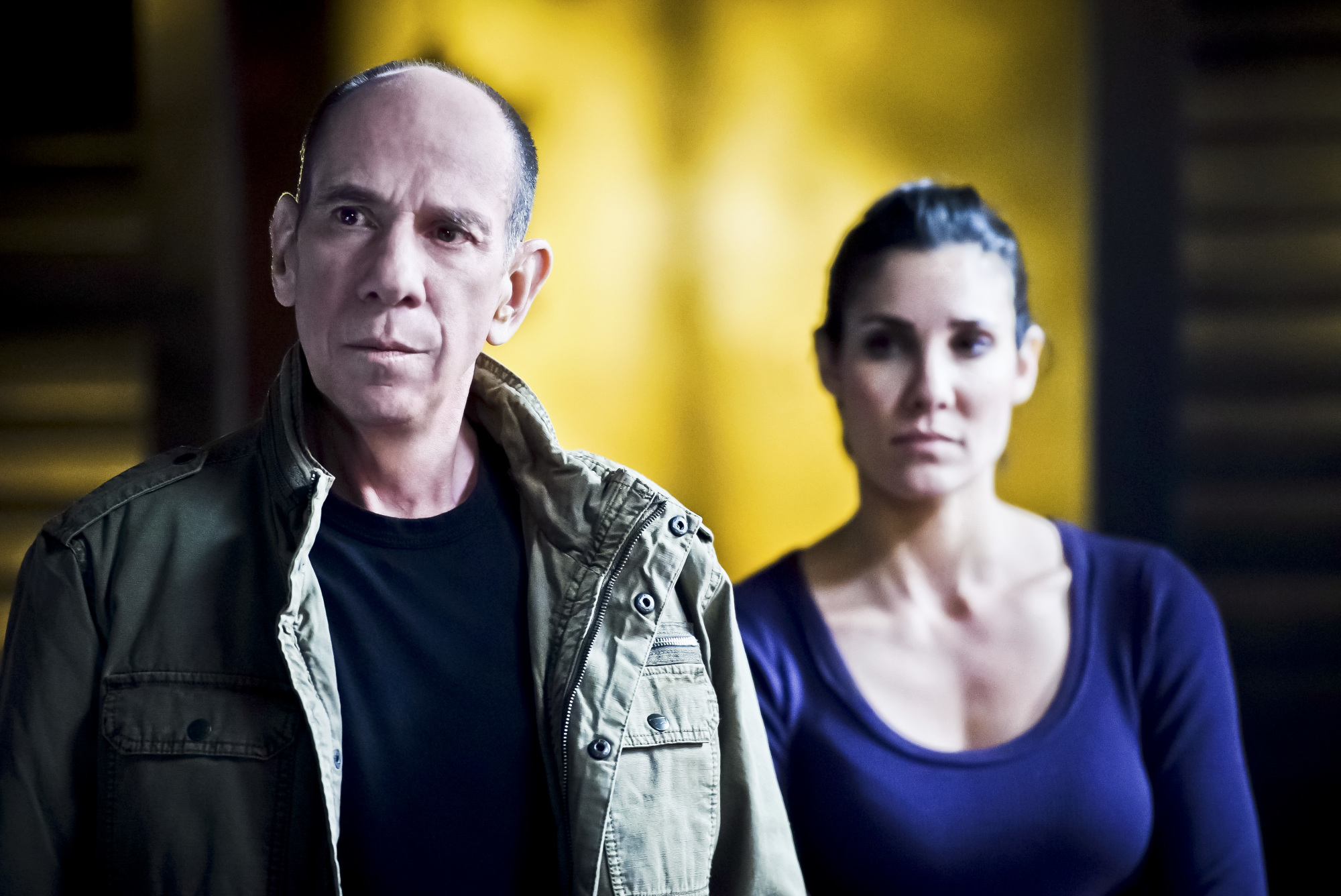 Miguel Ferrer as NCIS Assistant Director Owen Granger and Daniela Ruah as Special Agent Kensi Blye