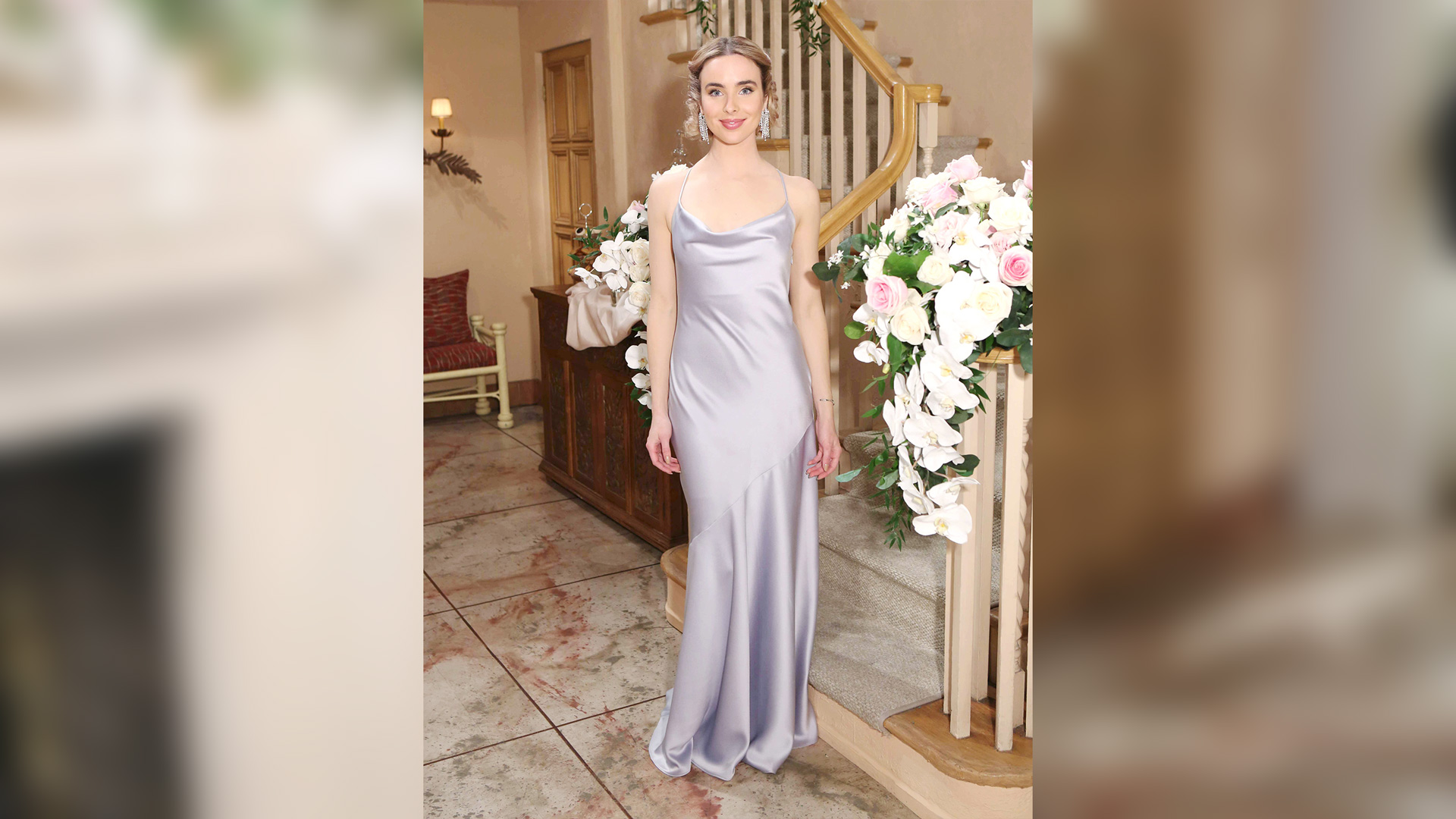 Ivy Forrester (Ashleigh Brewer) in a silky number.