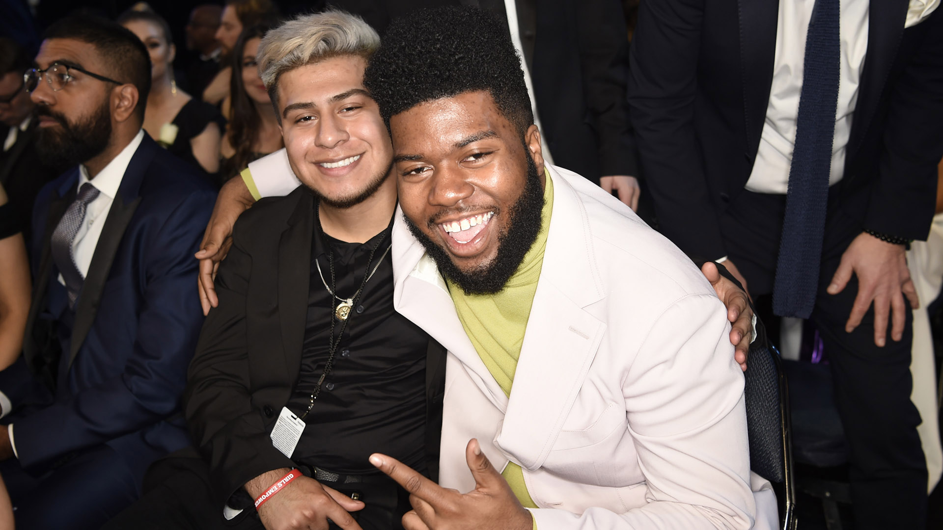 Best New Artist nominee and performer Khalid smiles wide at the 60th Annual GRAMMY Awards.