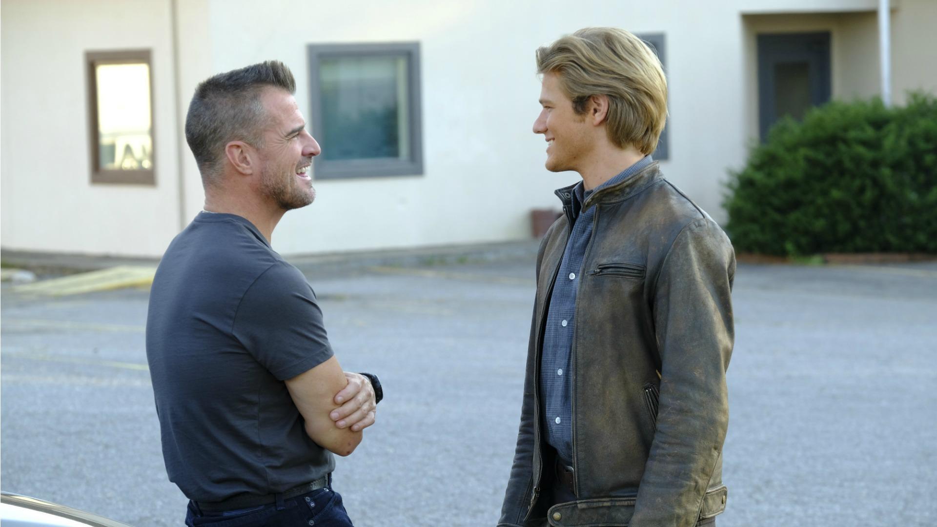 Jack and MacGyver joke around.
