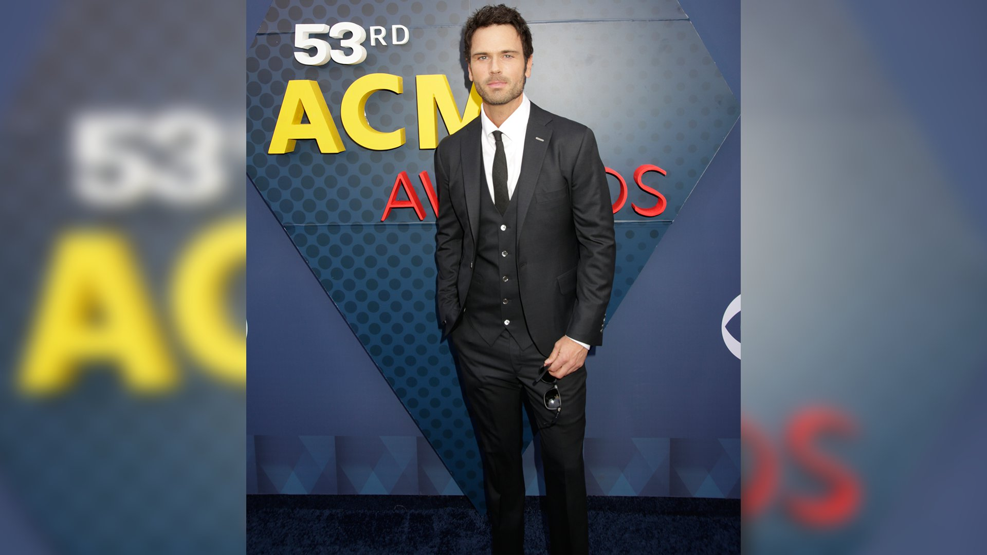 Singer Chuck Wicks looks wicked handsome in a three-piece suit.