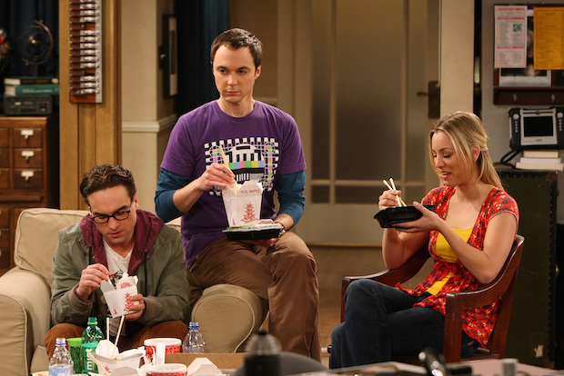 Leonard gets stuck in the middle of Sheldon and Penny's fight