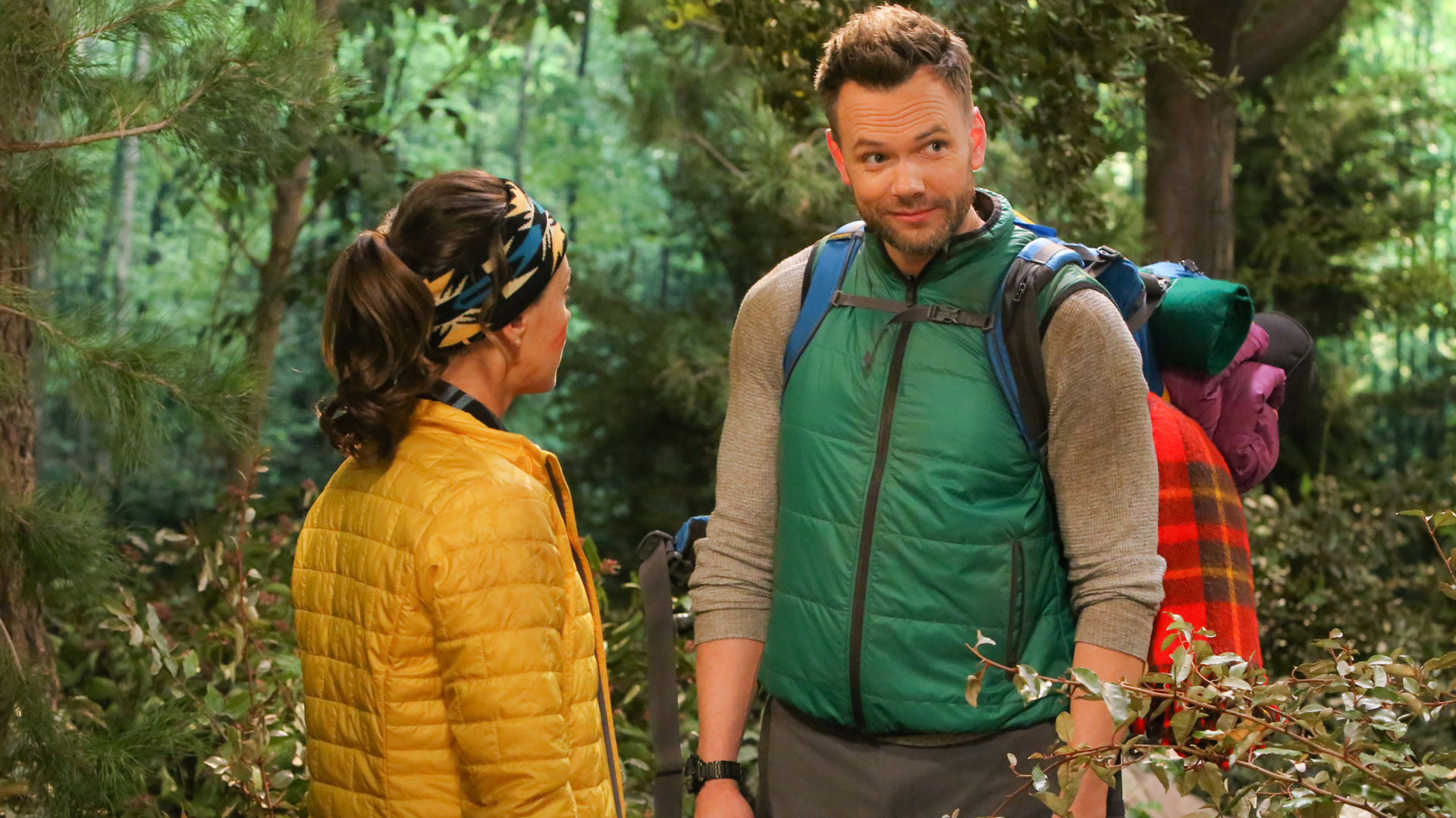 Jack has a heart-to-heart with Brooke after she crashes his wilderness retreat.