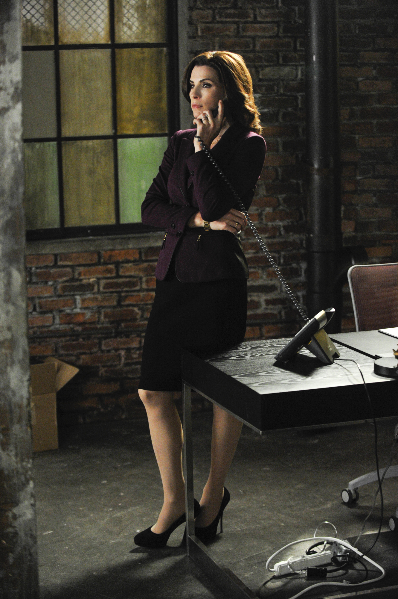7. Alicia's New Office May Be A Bit of A Mess, But Her Wardrobe Never Is