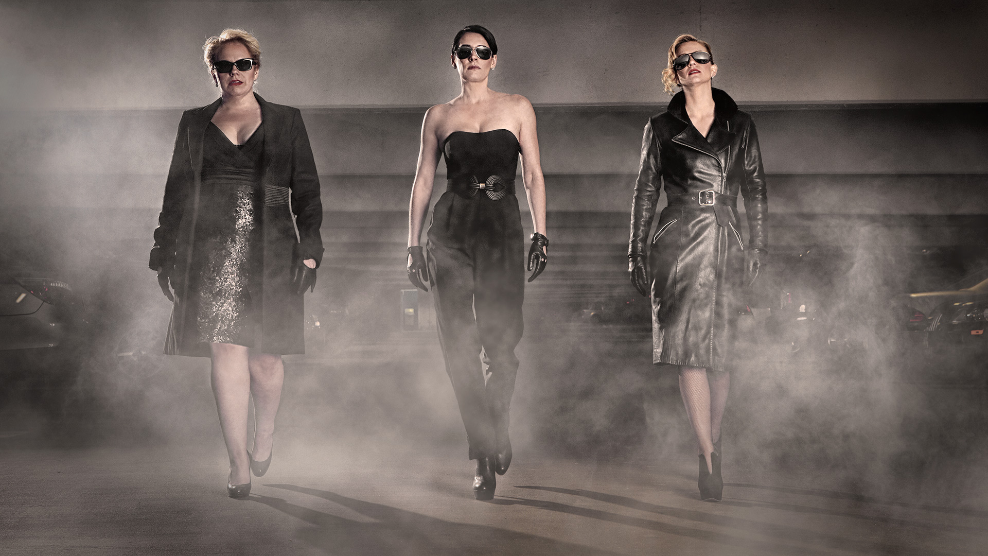 Kirsten Vangsness, Paget Brewster, and A.J. Cook as secret agents