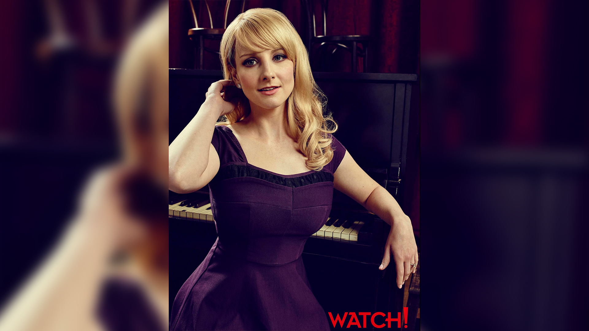 Melissa Rauch is pretty in purple