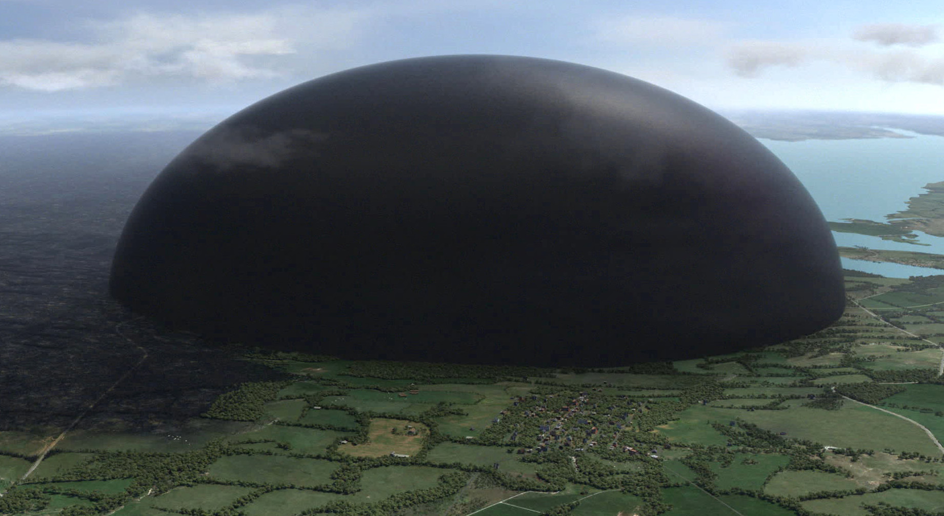 9. The Dome has the ability to turn completely black.
