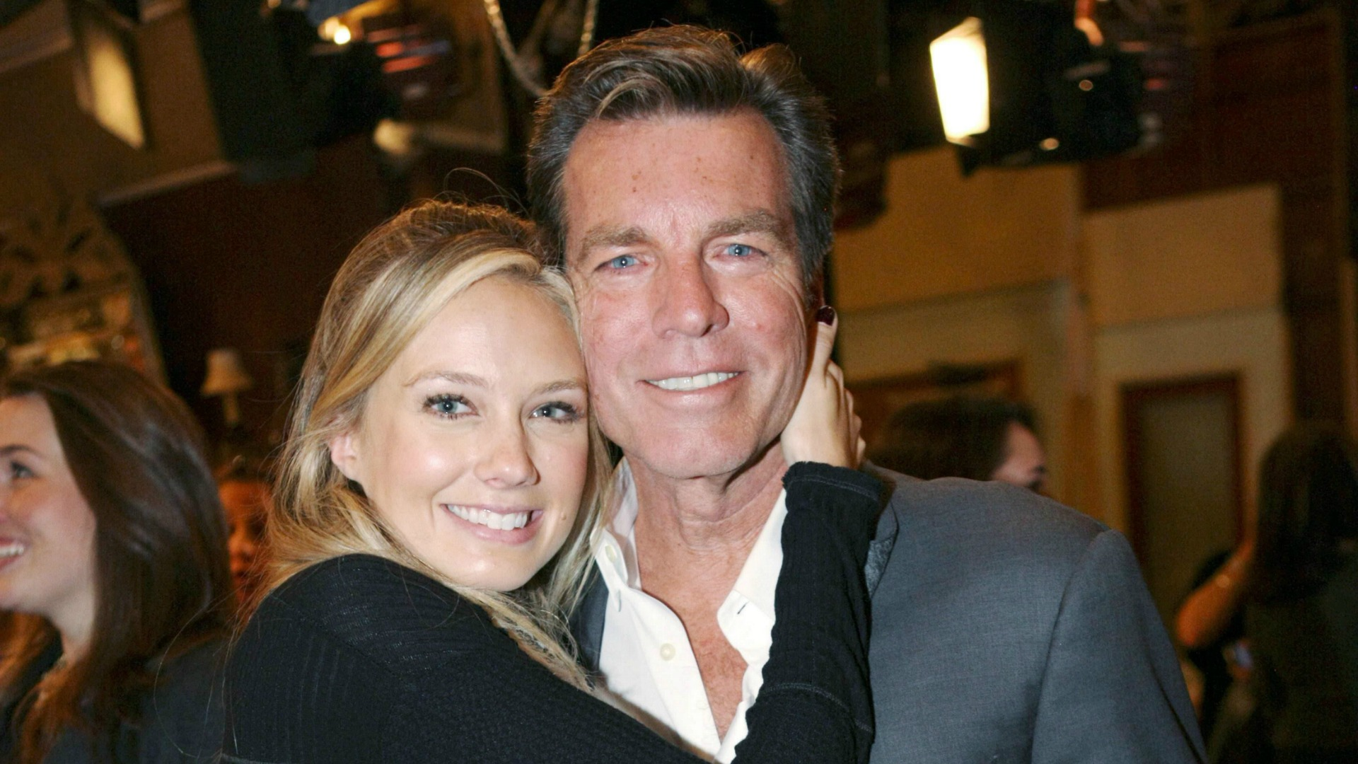 Peter Bergman smiles big with Melissa Ordway for his 25th Y&R anniversary.
