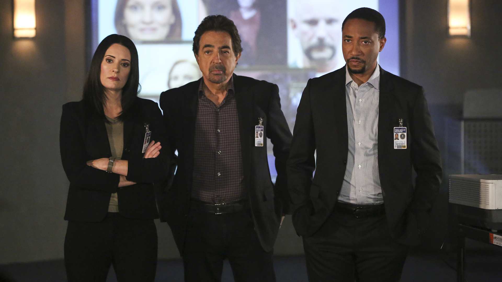 Prentiss, Rossi, and Walker listen to the new BAU members' theories.