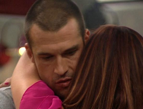 Brendon and Rachel Hug Goodbye