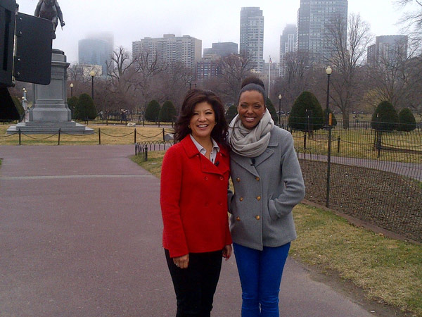 Julie & Aisha at Boston Public Garden