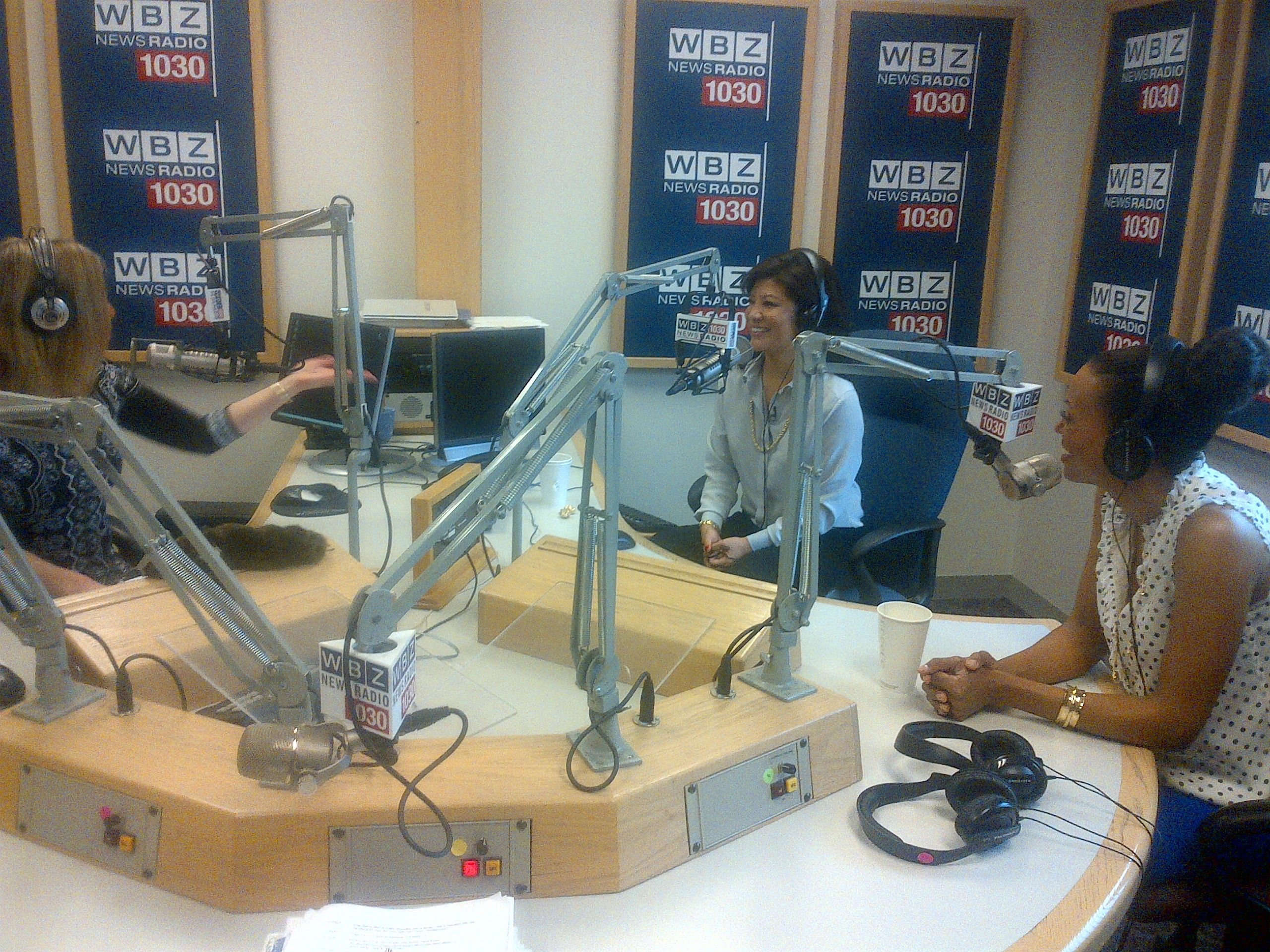 Aisha & Julie on air in Boston!
