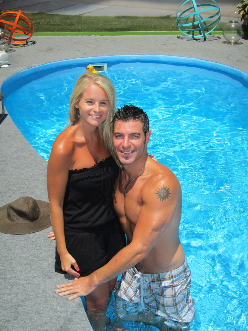 Jordan and Jeff at the Pool