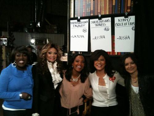 La Toya Jackson with the Hosts!