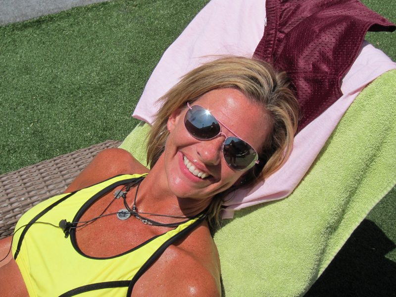 Shelly Sunbathes