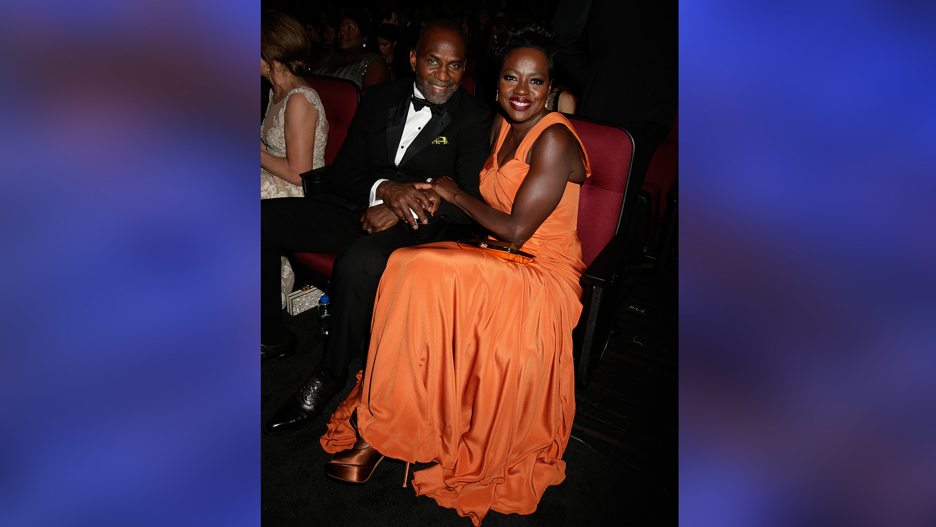 Julius Tennon and Viola Davis inspire serious #couplegoals from their seats in the Emmys audience.