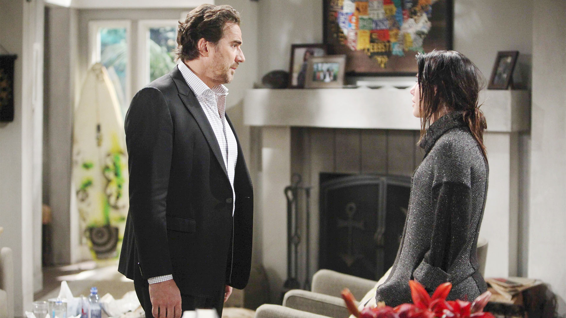 Worried about her father's response, Steffy prepares to tell Ridge the truth about her affair with Bill before he hears it from someone else.