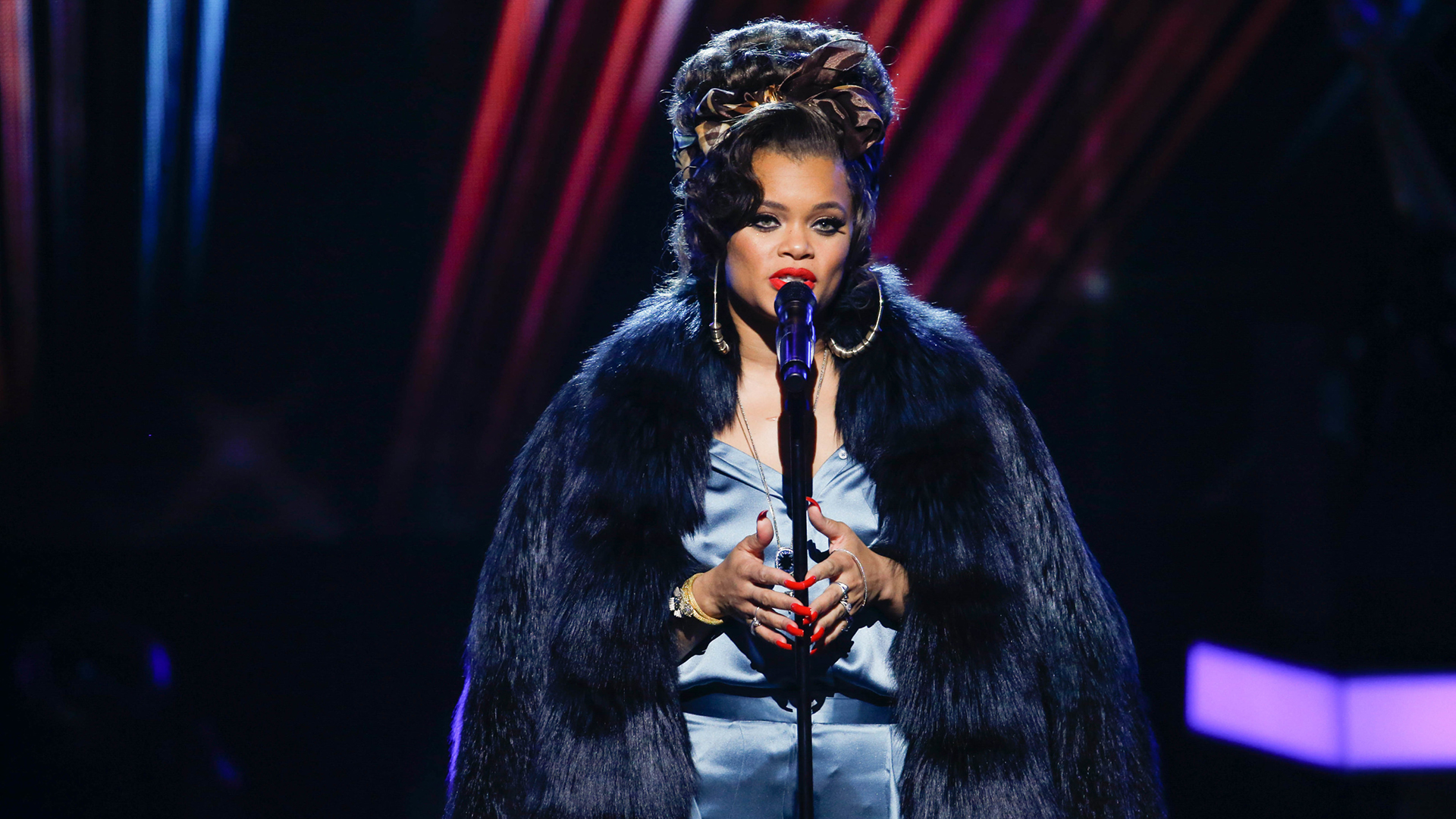 Andra Day performs