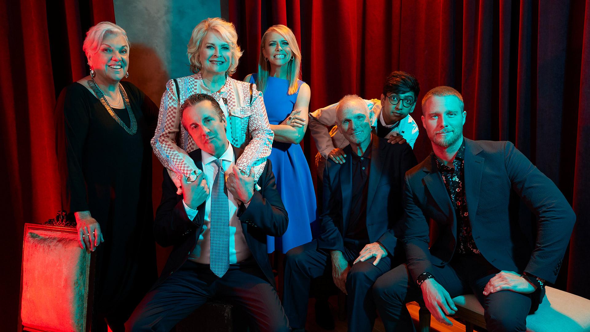 Tyne Daly, Candice Bergen, Grant Shaud, Faith Ford, Nik Dodani, Joe Regalbuto, and Jake McDorman