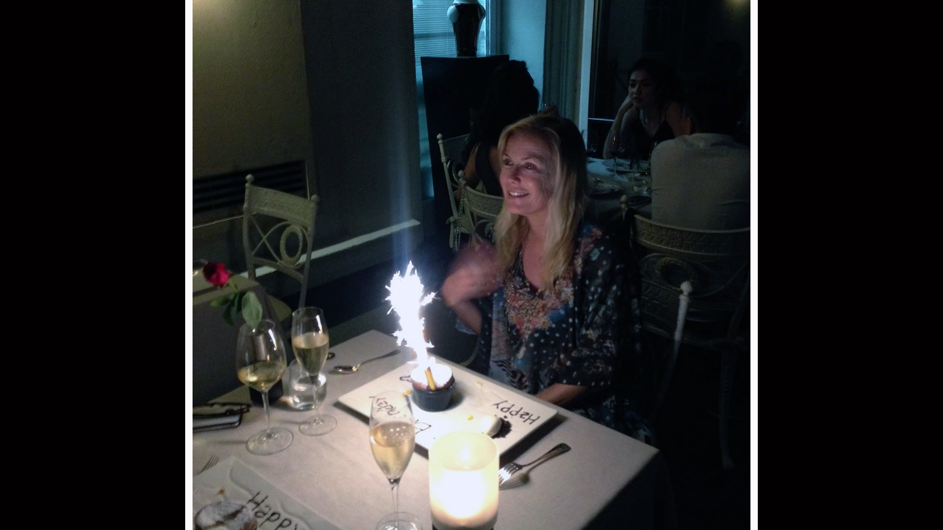 Katherine Kelly Lang rings in another wonderful year with sparklers and champagne.
