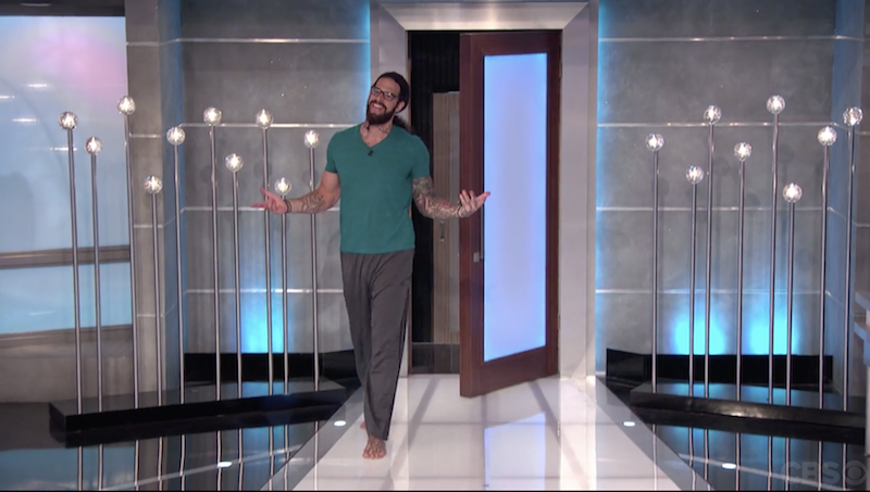 Big Brother 17: Vanessa evicts a barefoot Austin