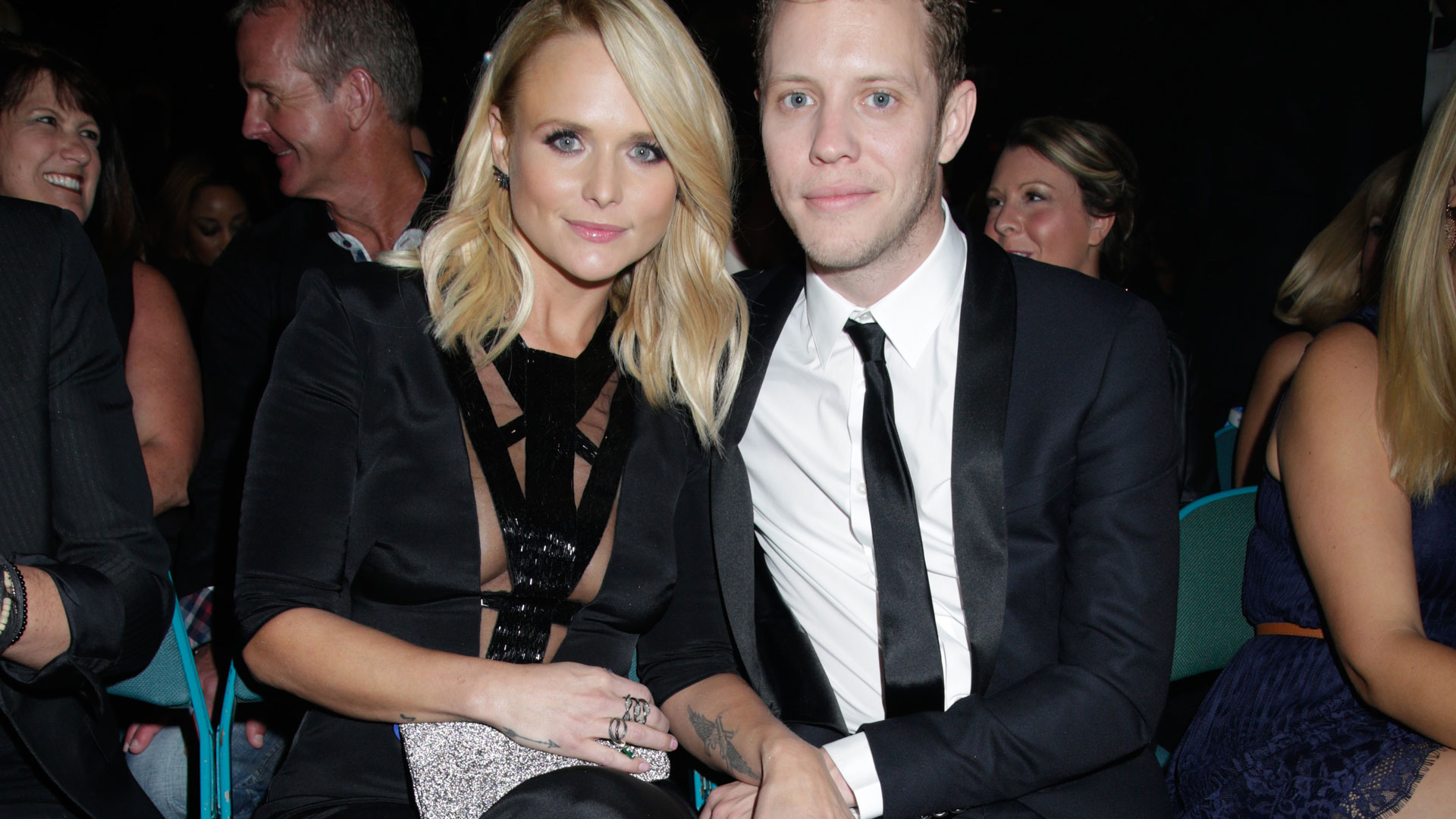 Female Vocalist Of The Year winner, Miranda Lambert, held her new man (and fellow country singer), Anderson East, real close.