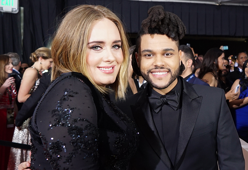 Adele and The Weeknd
