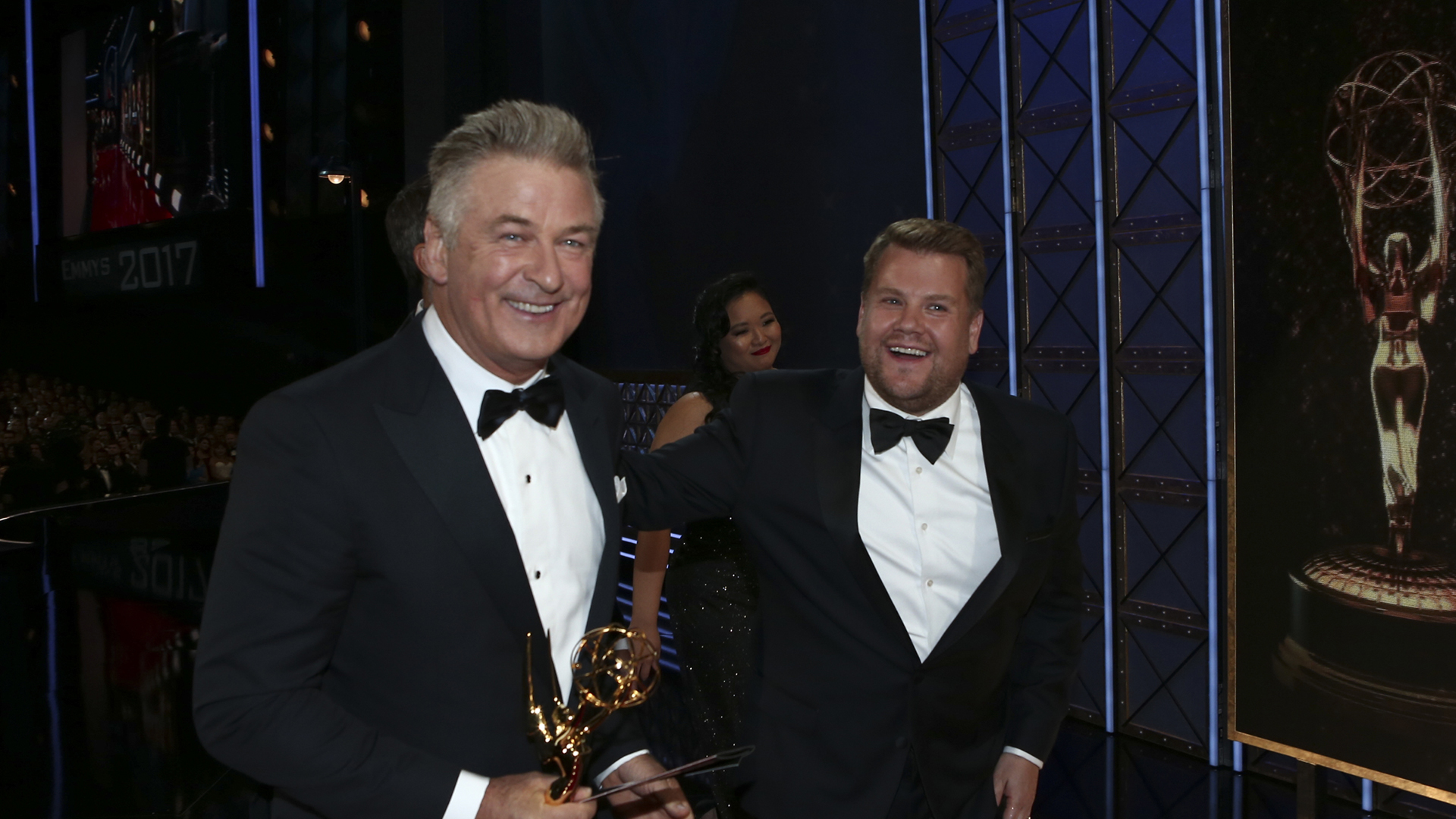 Alec Baldwin wins Outstanding Supporting Actor in a Comedy Series at The 69th Emmy Awards.