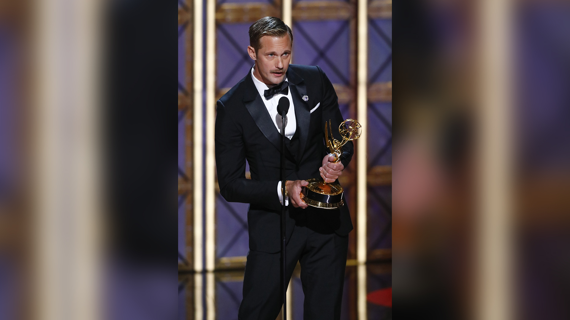Alexander Skarsgård wins Outstanding Supporting Actor in a Limited Series Or Movie at The 69th Emmy Awards.