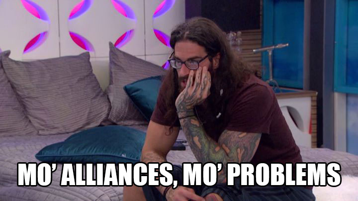 Austin reflects on his many alliances.