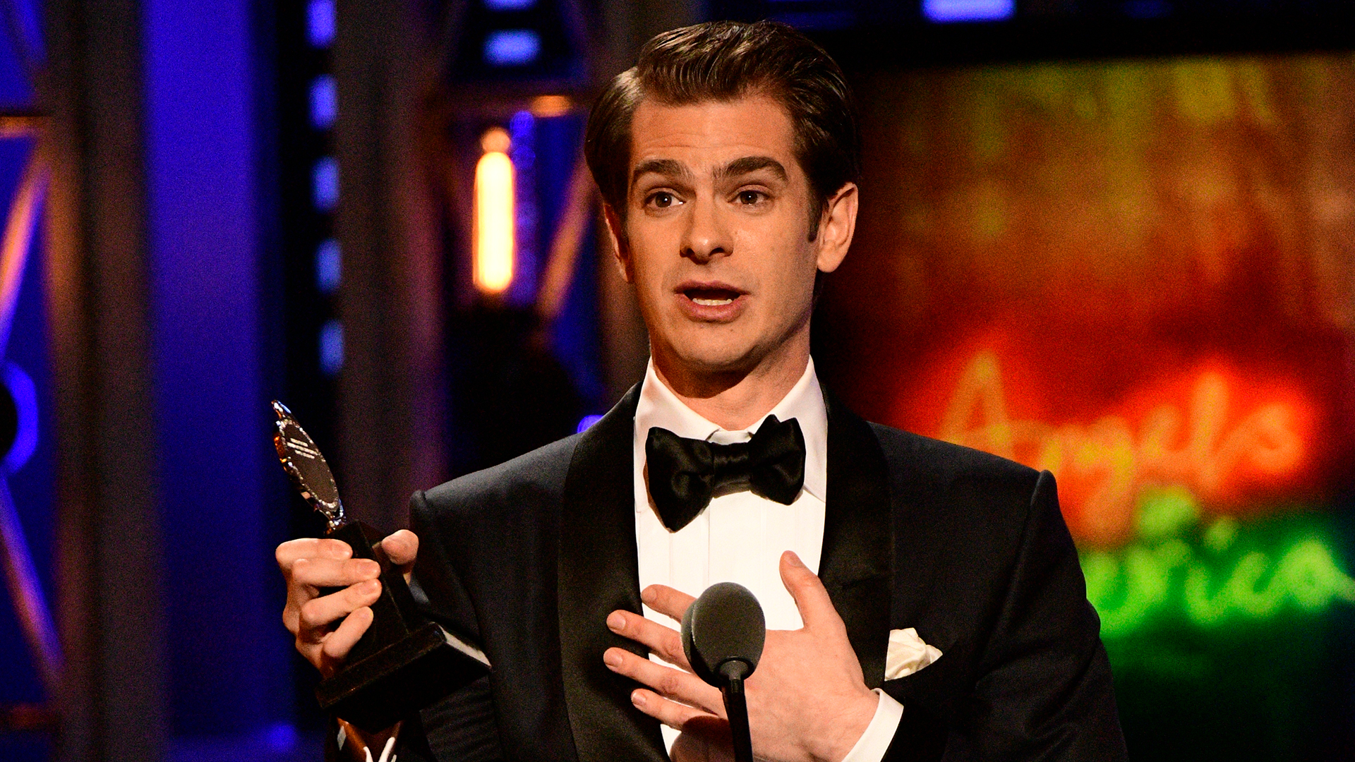 Andrew Garfield wins Best Leading Actor in a Play at the 2018 Tony Awards.