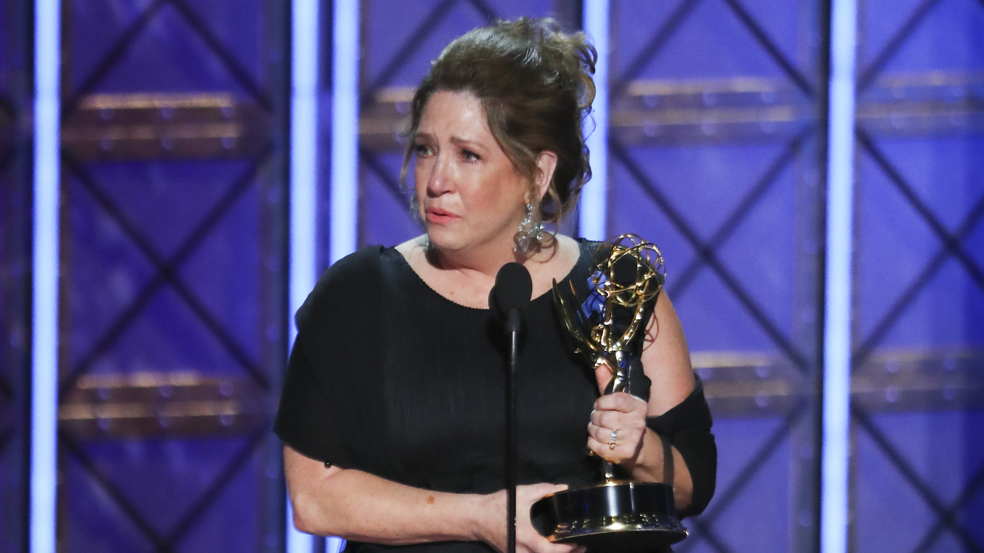 Ann Dowd wins Outstanding Supporting Actress in a Drama Series at The 69th Emmy Awards.
