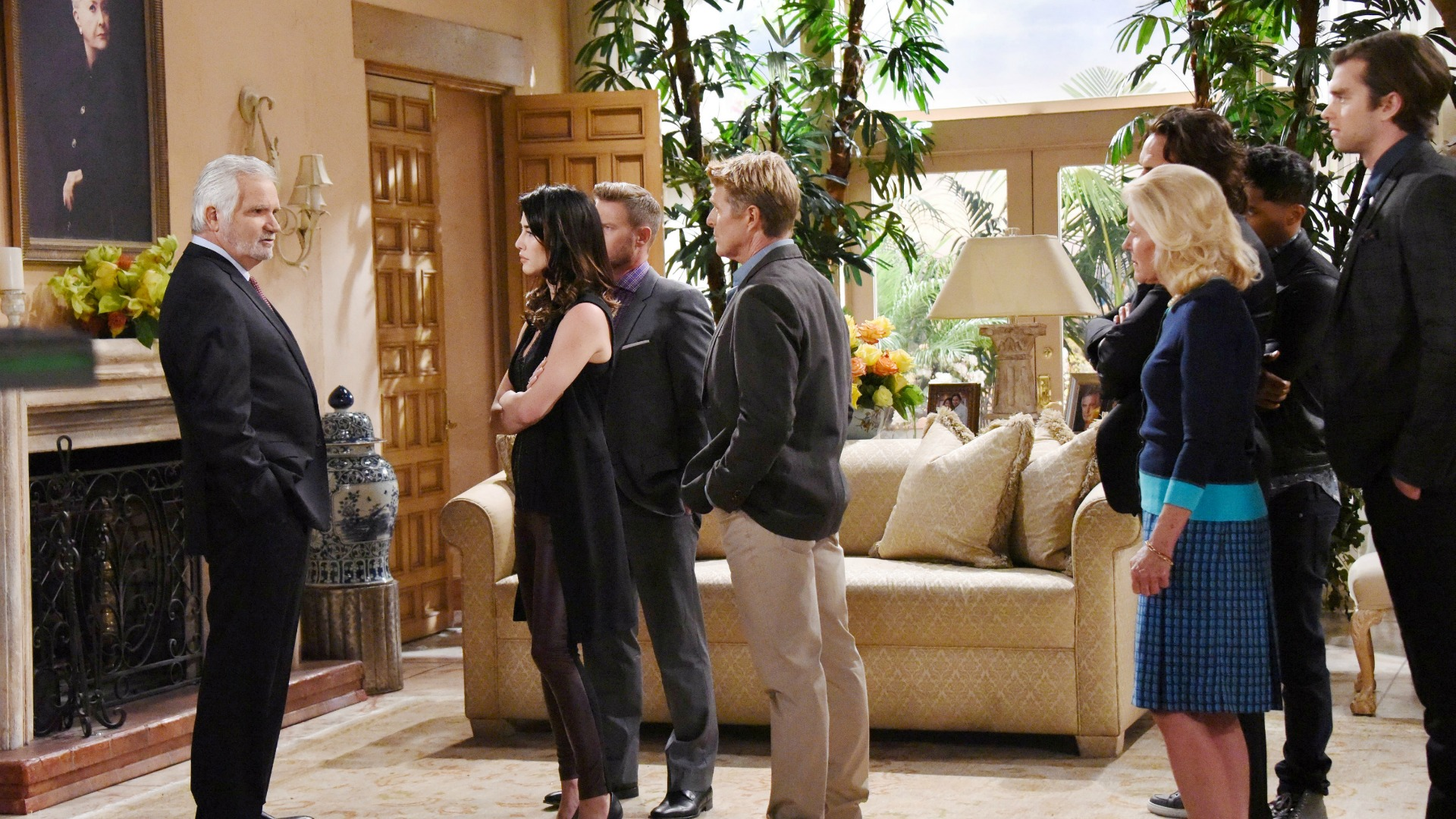 With Ridge spearheading the revolt, Eric's family confronts him about his newest plan.