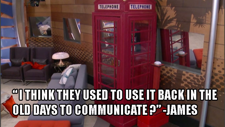 1. James didn't know what a phone booth was.